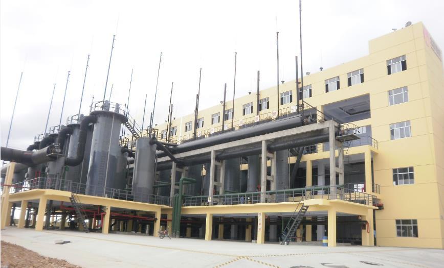 两段式煤气发生炉为太阳镁业提供燃气