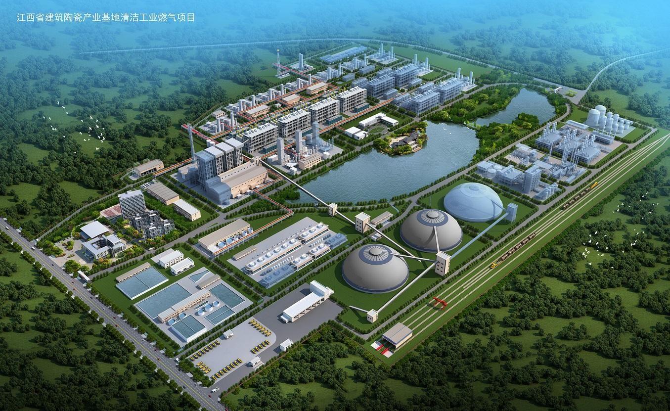 高安煤制清洁工业燃气项目--16台CXL6000I循环流化床富氧气化设备