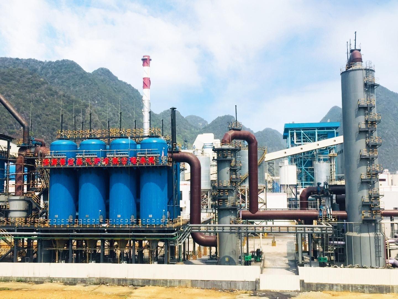 靖西循环流化床气化炉煤气站投产运行
