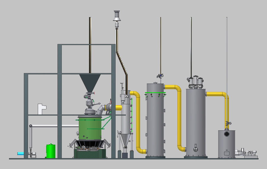 改进型单段式煤气发生炉炉体结构